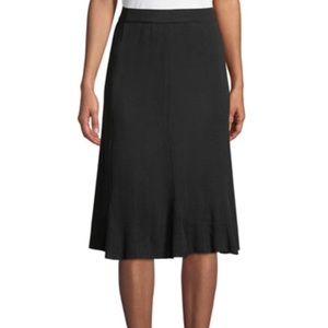 Black silk rayon stretch skirt size 2
